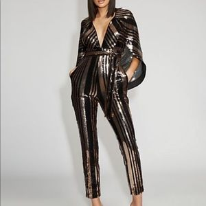 NY and Co sequin cape jumpsuit - size S
